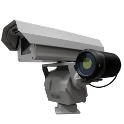 Camera with motorized lens and laser infrared illuminator
