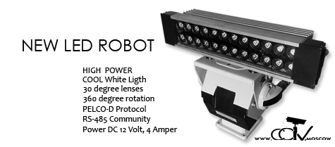NEW HIGH POWER LED SPOTLIGHT with RS485, PELCO-D Controllers